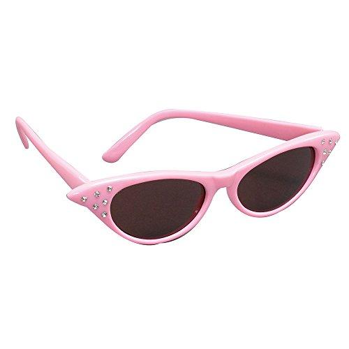 Bristol Novelty BA995 Sonnenbrille im Stil der 50er, Rosa, Damen, rose, ()