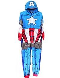 Para hombre Mono de Una Capitán América Marvel Los Vengadores dormir traje