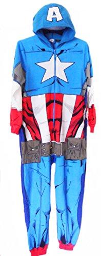 Tutina Pigiama da uomo capitan america marvel avengers Captain America Uomo M/L