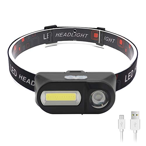 SYOSIN LED Stirnlampe USB Wiederaufladbar Kopflampe,Superheller,Wasserdicht Leichtgewichts Mini Kopfleuchte für Camping,Fischen,Keller,Laufen,Joggen,Wandern,Lesen,Arbeiten (Stirnlampe3)