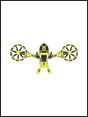 Fliesenaufkleber Fliesentattoos für Bad & Küche - Küchenfliesen für einzelne Fließen 20x25 cm - MF625 - Heuschrecken Flug (Indigo Flug)