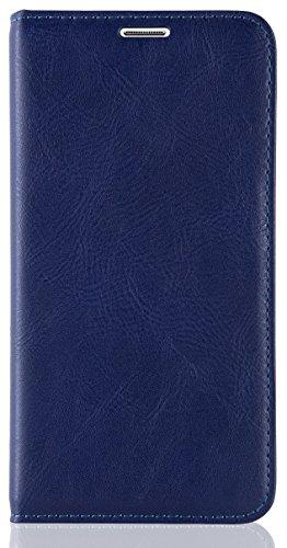 JAMMYLIZARD   Housse iPhone 6 6s écran 4.7 pouces étui portefeuille à rabat stand vidéo range cartes aspect cuir, Bleu marine BLEU MARINE
