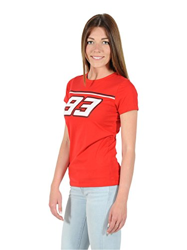 T-shirt Donna Marc Marquez Rossa Taglia (Linee T-shirt Retrò)