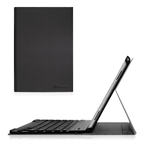 Fintie Blade X1 Samsung Galaxy Tab A 10.1 Bluetooth Tastatur Hülle Keyboard Case - Ultradünn leicht SlimShell Ständer Schutzhülle mit magnetisch abnehmbarer drahtloser deutscher Bluetooth Tastatur für Samsung Galaxy Tab A 10,1 Zoll T580N / T585N Tablet (2016 Version), Schwarz (Wifi Keyboard)