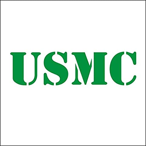 3141__DGRE Autocollant pour la voiture USMC United States Marine Corps vinyle Decal Stickers Voiture Sticker fenêtre Truck mur ( Dark Green)