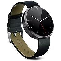 Oumeiou Smartwatch DM360, wasserdicht, mit Plusmesser, Gestenkontrolle, Sprachsteuerung, für iOS Apple iPhone und Android-Smartphones, luxuriös, professionell, modisch