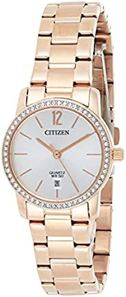 Citizen Women Silver Dial Stainless Steel Band Watch - EU6039-86A