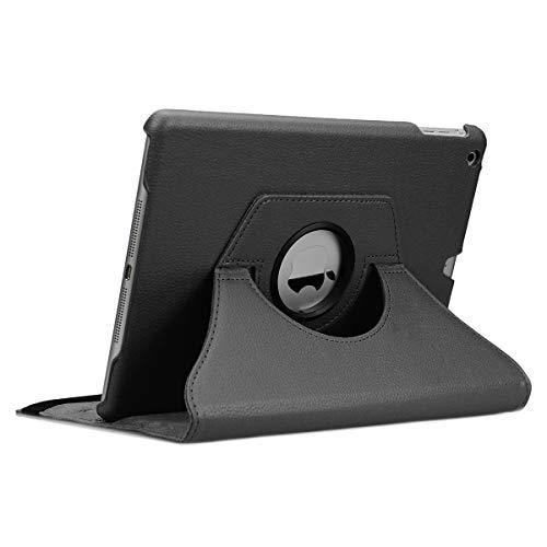doupi Rotatif Housse pour iPad Air (1. Gen.), Deluxe 360 Degrés Smart Coque de Protection Simili Cuir Coque Cover et Case, noir