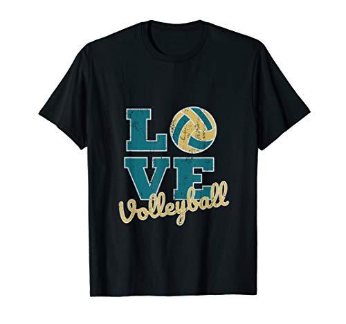 I Love Volleyball Beachvolleyball Spielen Sprüche T-Shirt