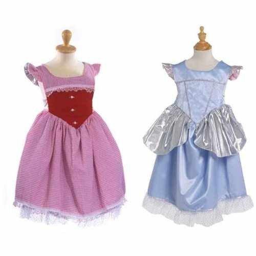 Imagen de vestido reversible de la cenicienta. 2 vestidos en 1. talla s/m 4 6 años . disfraces niña carnaval