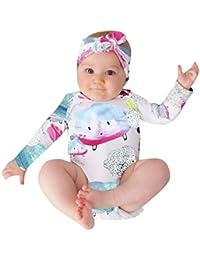 K-youth Ropa Bebe Recien Nacido Invierno Otoño Niñas y Niño Pijama Conjunto Body Bebe