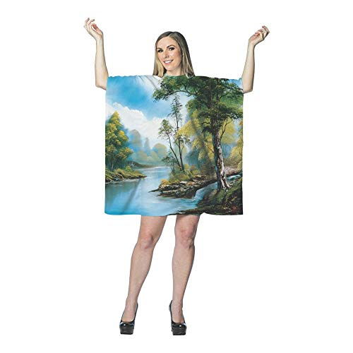 Bob Ross Happy Tree Painting Adult Costume - Painting Kostüm