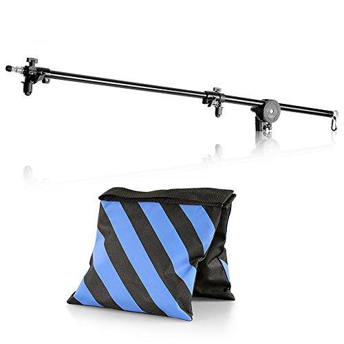 'Neewer® 30'-75/76–190cm cabezal giratorio aleación de aluminio 1/4' rosca pantalla plana brazo soporte con bolsa de arena para reflector, LED luz de vídeo, luz estroboscópica, Monolight y otros equipo fotográfico