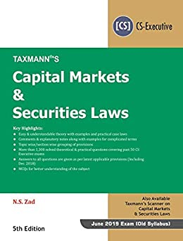Ebooks Capital Markets & Securities Laws (CS-Executive)(For June 2019 Exam - Old Syllabus) (5th Edition January 2019) Descargar PDF