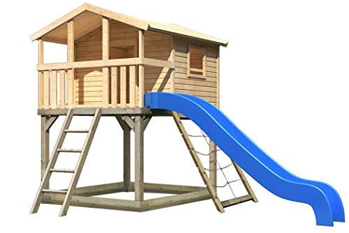 Akubi Karibu Stelzenhaus Benjamin Set XL Spielhaus Kletterturm Spielturm
