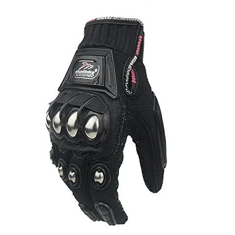 Madbike Glove Motorcycle Racing Motorbike Gloves Alloy Steel Protection (M)