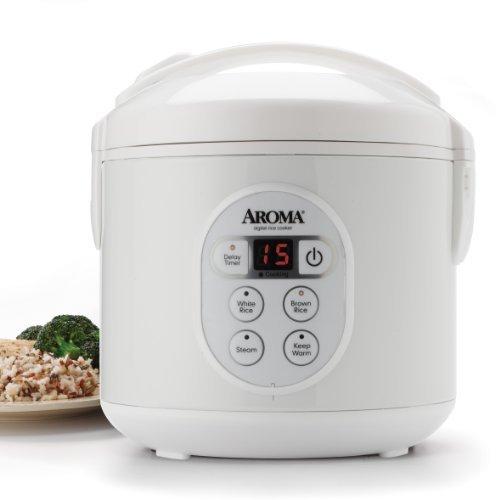 Aroma Housewares Kaffeebereiter (gekocht) (4Cup uncooked) Digital Reiskocher und Dampfgarer (arc-914d) von Aroma - (Reiskocher Aroma)