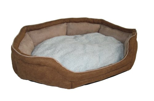 BUNNY-BUSINESS-Luxury-Super-Soft-Dog-Beds-Suede-and-Fleece-XXL-48-inch