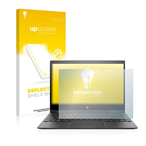 upscreen Entspiegelungs-Schutzfolie kompatibel mit HP Envy x360 13-ag0700ng - Anti-Reflex Bildschirmschutz-Folie Matt
