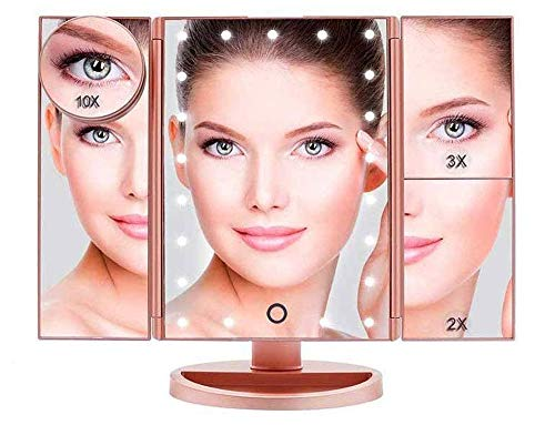 Boston Tech BE-104 Espejo Maquillaje 36 Luz LED Regulables