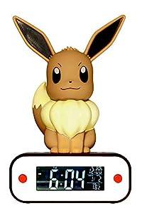 Teknofun- Eevee Reloj Despertador Lampara Led Pokemon, Color marrón (TKFPO811370)