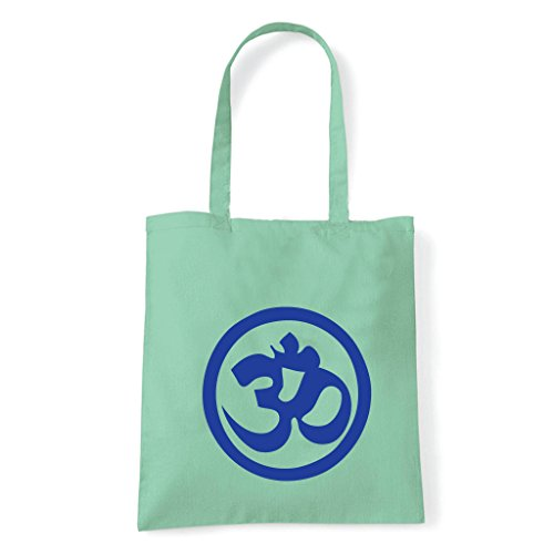 Art T-shirt, Borsa Shoulder Symbol Om Peace Menta