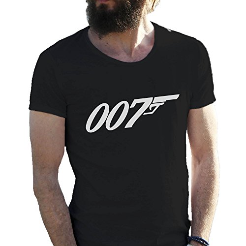 james-bond-007-fun-logo-negro-camiseta-para-hombre-en-grandes-tamaos-4x-large