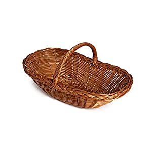 Nutley's Large Hand-Made Wicker Fruit/Flower and Vegetable Trug Basket - Brown
