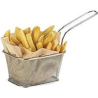 Mini-manden voor pommes frites, roestvrij staal, 10x 8x 7cm, 6Stück