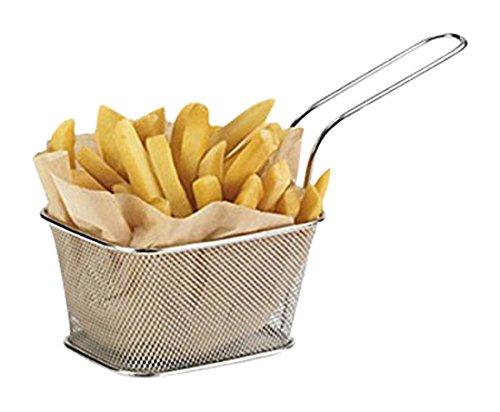 Mini-manden voor pommes frites, roestvrij staal, 10x 8x 7cm, 6Stück -
