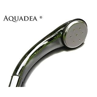 Crystal-Wirbeldusche Aquadea ® LifePower 7 Kammer Silber mit 1 Bergkristall-Wirbel-Kammer aufgebaut nach dem Goldenen Schnitt - Blume des Lebens, Schauberger-Technologie : Sog, Implosion. Dusche Brause