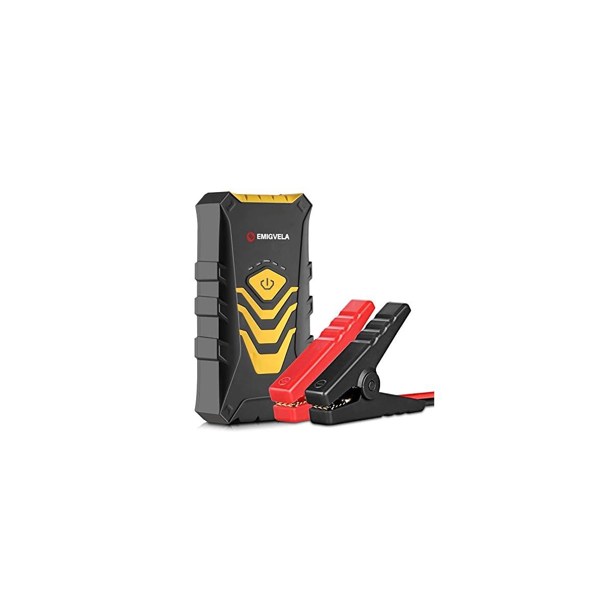 419COngi4QL. SS1200  - EMIGVELA Jump Starter de 14000mAh, 500A Arrancador de Coche, Multifuncion de Linterna LED, Bateria Externa