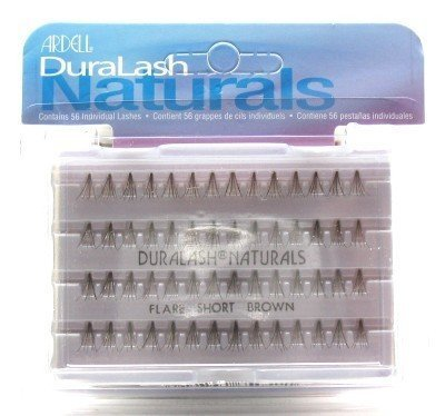 Ardell Duralash Naturals Flare Short Brown (56 Lashes) (3-Pack) with Free Nail File by Ardell