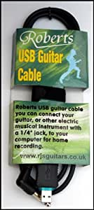 GUITAR USB RECORDING INTERFACE LINK CABLE- GUITAR 2 PC RECORDING