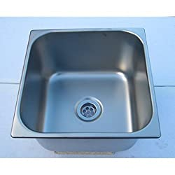 fin250s inset bowl 275mm square stainless steel bar sink or ice safe