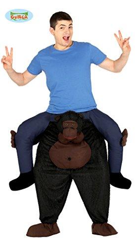 Costume con scimmia gorilla da cavalcare e imbottito, per adulti
