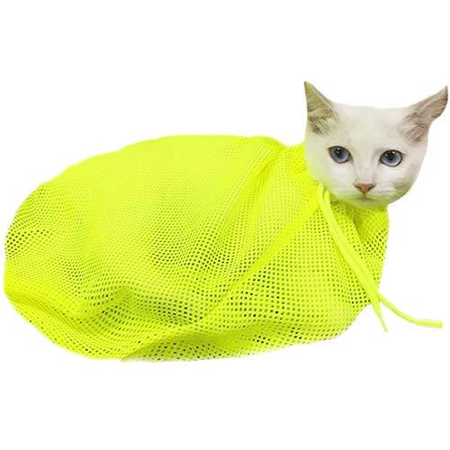 PET SPPTIES Cat Washing Bag Poliestere Mesh dell'animale Domestico governare del Gatto del Lavaggio Bagno Bag Nail PS044 (Green)