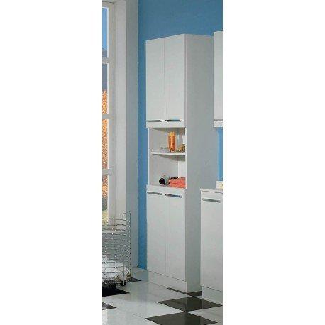 AVANTI TRENDSTORE - Blanco - Armadio a colonna da bagno, in laminato di colore bianco, dimensioni: LAP 50x199,5x33 cm