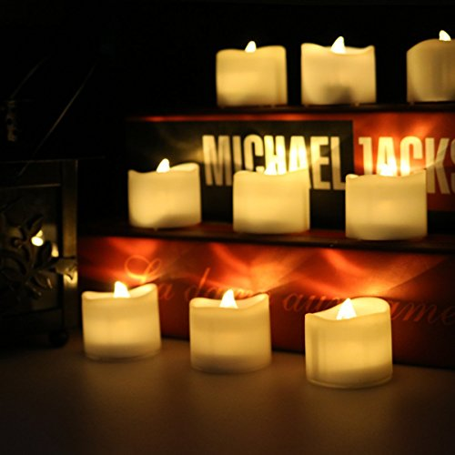 aupower de 2per LED sin llama velas, Navidad LED Velas de té, eléctrica velas velas para Halloween, Navidad, fiesta, bar, boda