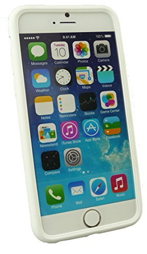 Emartbuy® Apple Iphone 6 6G 6S 4.7  Pollice Case Cover Custodia In Gel Paws Bianco Silicon