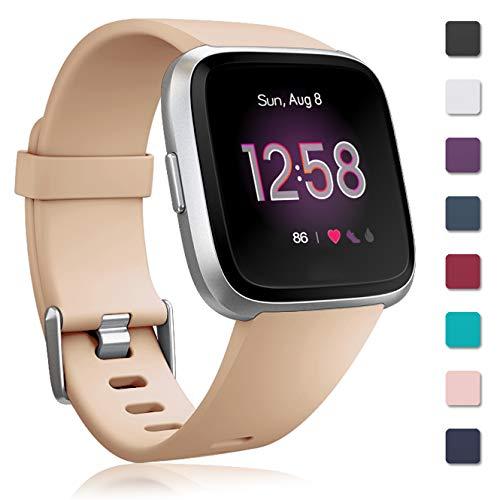 Zekapu Armband für Fitbit Versa/Fitbit Versa Lite, Fitbit Versa Armbänder Ersatz Einstellbare Silikon Sport Zubehör Armband für Fitbit Versa/Fitbit Versa Lite, Klein Groß, 12 Farben -