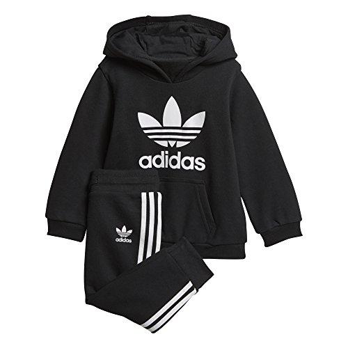 adidas - Trefoil Hoodie - Survêtement - Mixte Enfant - Noir (Black/White) - FR: 18-24 mois (Taille Fabricant: 92)