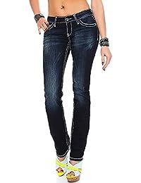 Cipo & Baxx Damen Jeans Hose CBW-231 Straight-Cut