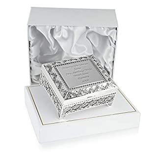 Wife Christmas Gift, Engraved Silver Plated Trinket Box in a Satin Lined Presentation Box, Wife Gift Ideas