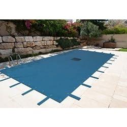 Lona piscina rectangular 6x 10m con red de salida Central-protectora piscina-lona impermeable-baches piscina
