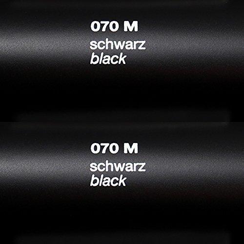 Rapid Teck® Matt Folie - 070 Schwarz - Klebefolie - 5m x 63cm - Folie Matt Plotterfolie - Klebefolie selbstklebend - auch als Moebelfolie - Dekofolientage