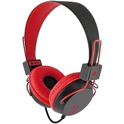 [Cable] NGS Pitch - Auriculares de diadema cerrados, rojo