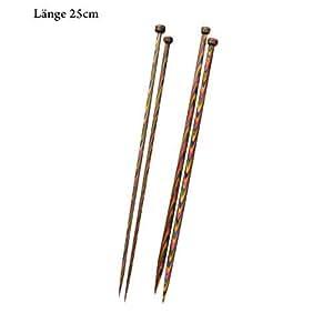 KnitPro Symfonie Wood Straight Needles 25cm - Pair 4.0mm