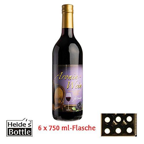 Aronia-Wein 9,5% Alc., 6 x 0,75 l-Flasche - pfandfrei -