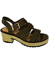 60919fe9c97 River Island Ex Ladies Block Heel Sandals Wedges Shoes Size 4-9 RRP £38